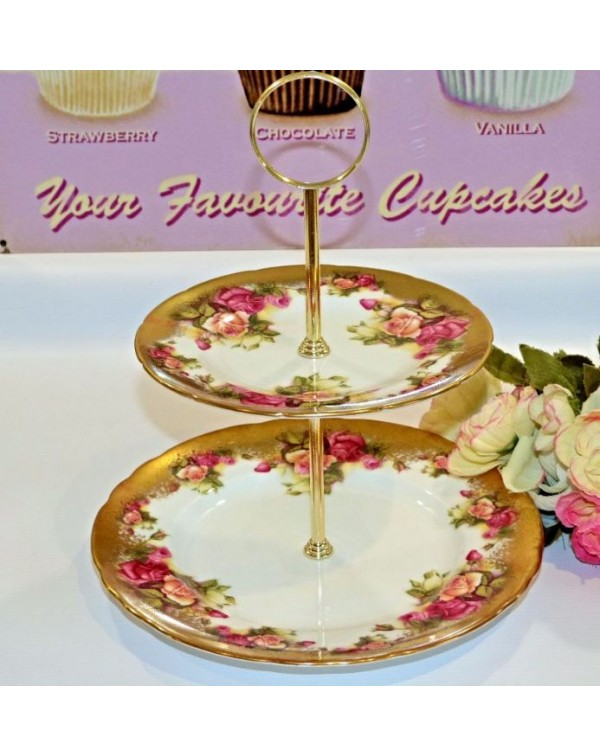 (OUT OF STOCK) ROYAL CHELSEA GOLDEN ROSE CAKE STAN...
